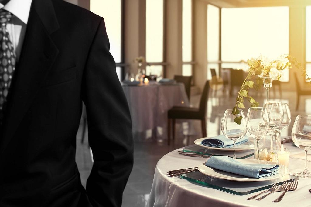 Service en place dans un restaurant