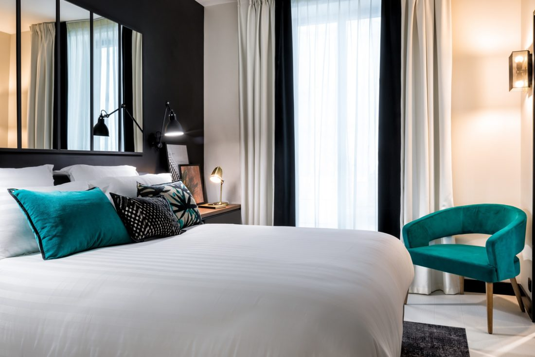 Chambre Hôtels LAZ' Hotel Spa Urbain Paris Saint-Lazare, boutique-hôtel 4 étoiles du parc hôtelier de Suitcase Hospitality