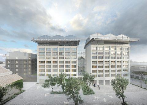 Vue façade du projet hôtelier H4 Bordeaux Suitcase Hospitality