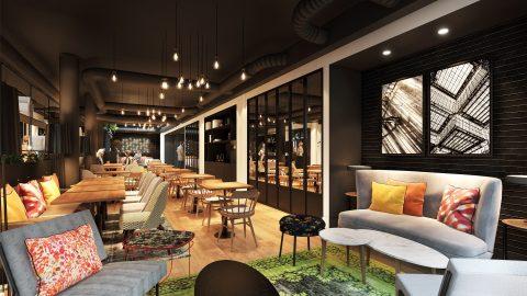Bar du LAZ' Hôtel Spa Urbain Paris Saint-Lazare, boutique-hôtel 4 étoiles du parc hôtelier de Suitcase Hospitality