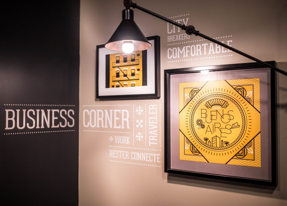 Business Corner de l'hôtel Best Western Plus Suitcase Hospitality