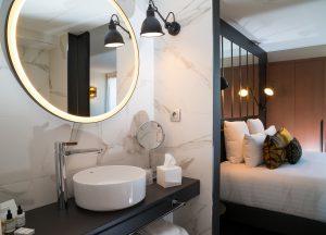 Chambre du LAZ' Hôtel Spa Urbain Paris Saint-Lazare, boutique-hôtel 4 étoiles du parc hôtelier de Suitcase Hospitality