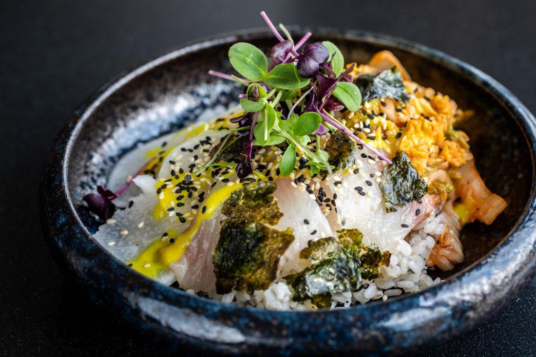 Shirashi de daurade, plat à la carte du restaurant CHARBON, restaurant bistronomique, Gennevilliers