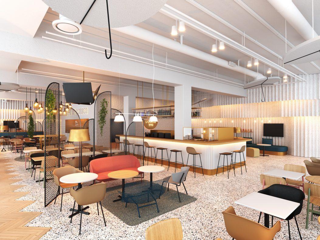 Espace lobby/bar Hôtel ibis Styles Paris Romainville, hôtel 3 étoiles du parc hôtelier Suitcase Hospitality