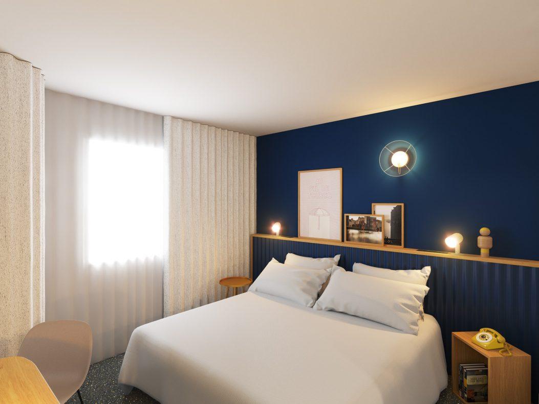 Chambre Hôtel ibis Styles Paris Romainville, hôtel 3 étoiles du parc hôtelier Suitcase Hospitality