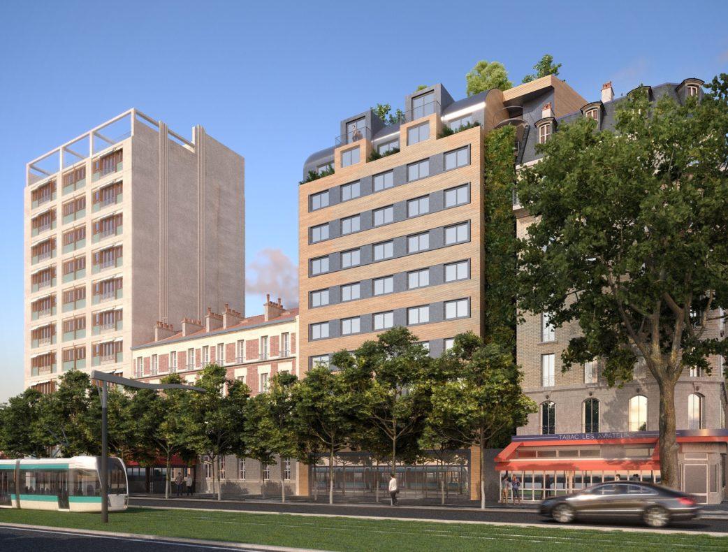 Futur hôtel 4 étoiles situé Pairs 15ème, Porte de Versailles